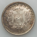 Chile, Chile: Republic Proclamation silver Peso 1925-So,...