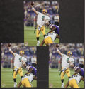 Football Collectibles:Uniforms, Brett Favre Signed Photographs Lot of 3. ...