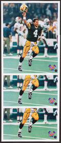 "Football Collectibles:Photos, Brett Favre Signed Photographs Lot of 3 - SB XXXI ""The Kid"" Pose"". ..."