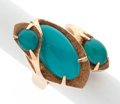 Estate Jewelry:Rings, Chrysocolla-in-Chalcedony, Gold Ring. ...