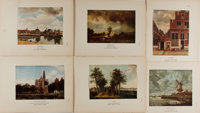 [Illustration]. Group of Six Chromolithographic Art Plates. N.d. Measures 9.75 x 7.5 inches, loosely. Includes rep