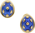 Estate Jewelry:Earrings, Jean Schlumberger for Tiffany & Co. 18k Gold, Enamel Earrings. ...