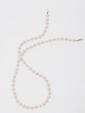 Estate Jewelry:Pearls, Cutlured Akoya Pearl, Gold Necklace. ...