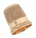 Estate Jewelry:Other , Gold Thimble. ...