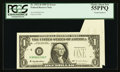 Error Notes:Foldovers, Fr. 1921-D $1 1995 Federal Reserve Note. PCGS Choice About New 55PPQ.. ...