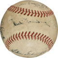 Baseball Collectibles:Balls, Greenberg, Ott, Hornsby, DiMaggio and Others Multi Signed Baseball....