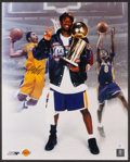 Basketball Collectibles:Photos, Kobe Bryan Signed Oversized Photograph....