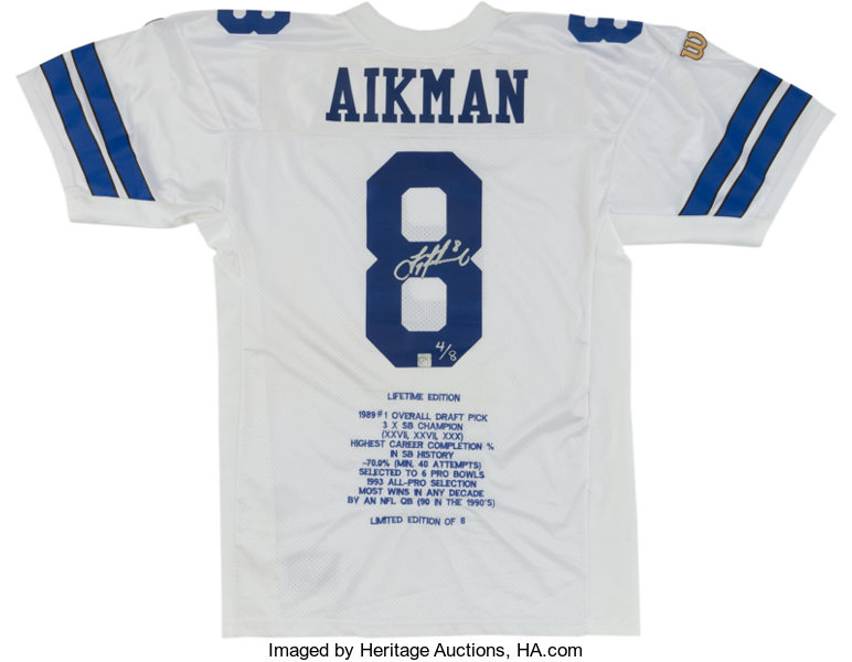 best cheap 52e99 e1c4d Troy Aikman Signed Dallas Cowboys Jersey, With Aikman | Lot ...