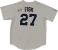 Baseball Collectibles:Uniforms, Carlton Fisk Signed Red Sox Jersey....