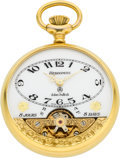 Timepieces:Pocket (post 1900), Hebdomas Eight Day With Exposed Balance. ...