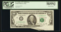 Error Notes:Foldovers, Fr. 2168-L $100 1977 Federal Reserve Note. PCGS Choice About New58PPQ.. ...