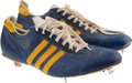 Baseball Collectibles:Uniforms, 1975-76 Hank Aaron Game Worn Milwaukee Brewers Cleats....
