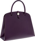 Luxury Accessories:Accessories, Hermes Raisin Calf Box Leather Dalvy Top Handle Bag with PalladiumHardware . ...