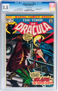 Bronze Age (1970-1979):Horror, Tomb of Dracula #10 (Marvel, 1973) CGC FN- 5.5 Off-white pages....