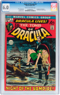 Bronze Age (1970-1979):Horror, Tomb of Dracula #1 (Marvel, 1972) CGC FN 6.0 Cream to off-whitepages....