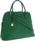 Luxury Accessories:Bags, Hermes 31cm Vert Clair Epsom Leather Bolide Bag with Gold Hardware. ...