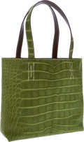 Luxury Accessories:Bags, Hermes Matte Pelouse Alligator & Etoupe Swift Leather DoubleSens PM Tote Bag . ...