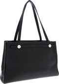 Luxury Accessories:Bags, Hermes Black Togo Leather Kabana Tote Bag with Palladium Hardware....