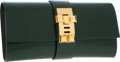 Luxury Accessories:Bags, Hermes 23cm Vert Fonce Calf Box Leather Medor Clutch Bag with Gold Hardware. ...