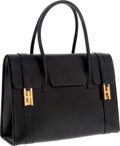 Luxury Accessories:Bags, Hermes Black Calf Box Leather Drag Bag with Gold Hardware. ...