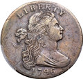 Large Cents, 1796 1C Draped Bust, Reverse of 1797, S-NC-3, B-33, R.6 -- Scratch-- PCGS Genuine. VF Details....