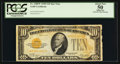 Small Size:Gold Certificates, Fr. 2400* $10 1928 Gold Certificate. PCGS Apparent About New 50.. ...