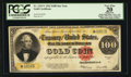 Large Size:Gold Certificates, Fr. 1215* $100 1922 Gold Certificate PCGS Apparent Very Fine 20.....