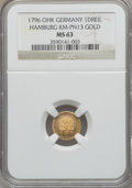 German States:Hamburg, German States: Hamburg. Free City gold Dreiling (3 Pfennig) 1796-OHK,...