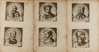 [Caesars]. Group of Six Engraved Portraits of Various Caesars. N.d. but likely late 17th or early 18th century. Two e