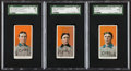 Baseball Cards:Lots, 1909-11 T206 Piedmont M. Brown, Chance & Tinker Portraits Trio(3). ...