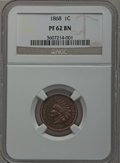 1868 1C PR62 Brown NGC. NGC Census: (3/19). PCGS Population (0/14). Mintage: 600. Numismedia Wsl. Price for problem free...