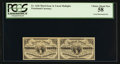 Fractional Currency:Third Issue, Fr. 1226 3¢ Third Issue Uncut Horizontal Pair PCGS Choice About New 58.. ...