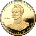 Colombia, Colombia: Republic Proof gold 15000 Pesos 1980,...