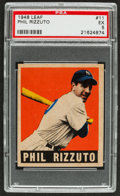 Baseball Cards:Singles (1940-1949), 1948 Leaf Phil Rizzuto #11 PSA EX 5....