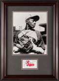 Baseball Collectibles:Others, Satchel Paige Signed Business Card Display....