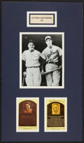 Baseball Collectibles:Others, Lou Gehrig and Hank Greenberg Display With Greenberg Autograph....