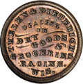 Civil War Merchants, Thelen & Dieterich Grocers, Racine, WI, MS66 Red and BrownNGC....