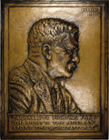 U.S. Presidents & Statesmen, 1920 Large Theodore Roosevelt Copper Plaque.. ...