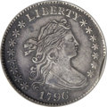 Early Dimes, 1796 10C --Eagle Tooled, Improperly Cleaned--NCS. XF Details....