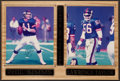 Football Collectibles:Photos, Phil Simms and Lawrence Taylor Signed Photographs Display....