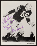 Football Collectibles:Photos, Ray Nitschke Signed Photograph....