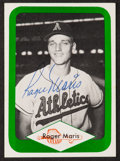 Baseball Cards:Autographs, 1975-76 Roger Maris Signed Card....