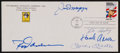 Baseball Collectibles:Others, Baseball Greats Multi Signed First Day Cover....