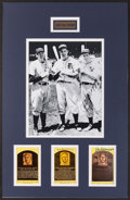 Baseball Collectibles:Others, Dickey, Greenberg and DiMaggio Signed Display....