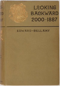 Edward Bellamy. Looking Backward. First edition, first printing with the Arakelyan i