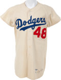 Baseball Collectibles:Uniforms, 1952 Andy Pafko Game Worn Brooklyn Dodgers Jersey....