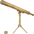 Antiques, [Mexican War]. Presentation Telescope Given to Colonel Francis M.Wynkoop, circa 1848. ...