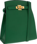 Luxury Accessories:Bags, Hermes Vert Clair Epsom Leather Kelly Sport Bag with Gold Hardware. ...