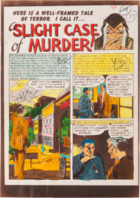 """The Vault of Horror #33 """"A Slight Case of Murder!"""" Silverprint Color Guide Group (EC, 1953). ... (Total: 6 Ite..."""