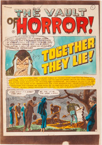"""The Vault of Horror #33 """"Together They Lie!"""" Silverprint Color Guide Group (EC, 1953). ... (Total: 8 Items)"""